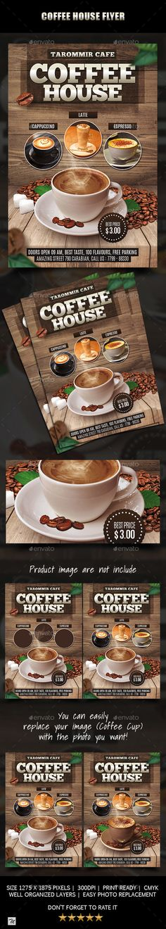Coffee House Flyer Template PSD