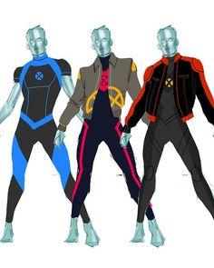 kevin wada illustration: Just for fun, some Iceman uniform explorations. Comic Book Girl, Comic Book Artists, Comic Books Art, Superhero Suits, Superhero Design, Super Hero Outfits, Super Hero Costumes, X Men, Comic Character
