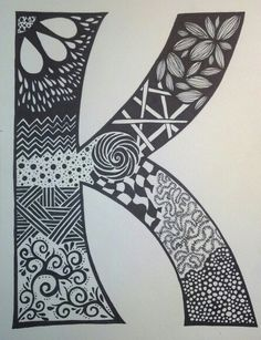 """K"" - sharpie art - SF"