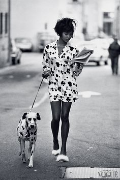 Vogue US June 1990, Naomi Campbell photographed by Peter Lindbergh