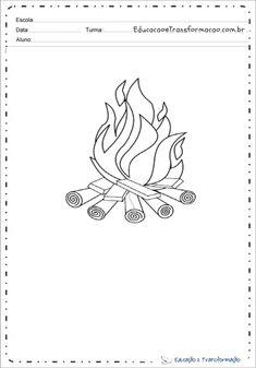 Desenhos de fogueira para colorir e imprimir – Educação e Transformação