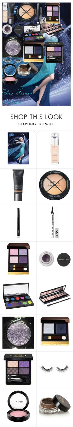 Elsa Frozen Makeup by oroartye-1 on Polyvore featuring beauty, Tom Ford, Gucci, Urban Decay, Cover FX, Bare Escentuals, MAC Cosmetics, Smashbox, Anastasia Beverly Hills and Isadora