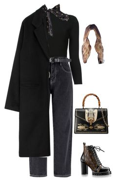 """""""Sans titre #2485"""" by frenchystyle ❤ liked on Polyvore featuring Brock Collection, Louis Vuitton, Gucci and Yves Saint Laurent"""