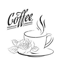 Cup of coffee logo vector  by Kotkoa on VectorStock®