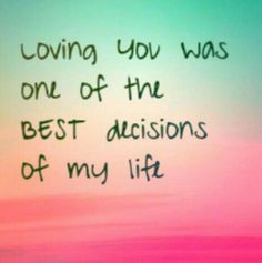 So I guess that your decision was one of the best decision of MY life too! ,☺️😍♥️♥️♥️