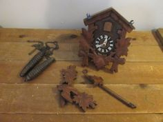 Vintage West Germany Regula Black Forest? Style Cuckoo Clock-Synt-011-Clock 859
