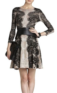 LOVE this! ornate but balanced pattern, love the color contrast w/neutrals, beautiful sleeves as well, great for work -- bcbg