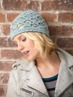 Feel like a modern day flapper with this crocheted lace hat.