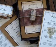 favors, stationery, menu, invites, vineyard