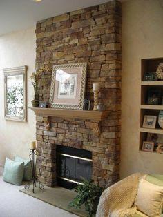 Stone Fireplace Design Ideas 禄 Veneer Stone Fireplace ...