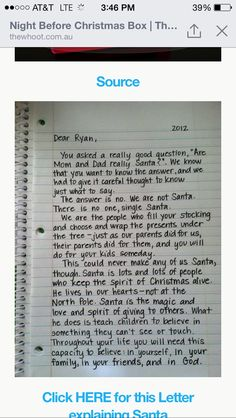 Way to tell your kids about Santa!