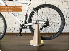 Hey, I found this really awesome Etsy listing at https://www.etsy.com/listing/204208235/bike-stand-bike-holder-bike-rack-wooden