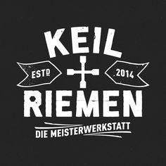 Keil+Riemen Lüdenscheid, Werkstatt, Auto, Tuning, Reparatur, Meisterwerkstatt, Logo Design, David&Goliath