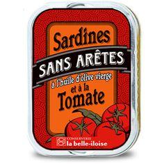 Sardines sans arêtes à l'huile d'olive vierge et à la tomate