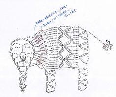 a funny little crocheted elephant doily pattern