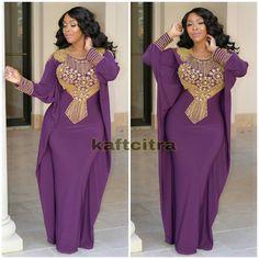 Katrina Premium Kaftan ( Royal Dark purple )