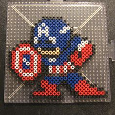 Captain America perler beads by Flood7585
