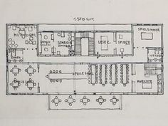 Sanatorium Purkersdorf, Josef Hoffmann - Purkersdorf (A) - 1904 Innsbruck, Vienna, Uni, Art Nouveau, Scary, Floor Plans, Interiors, How To Plan, Design
