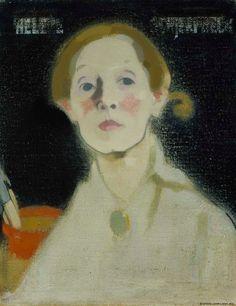 Helene Schjerfbeck (Finnish 1862 – Self-Portrait, Black Background, oil/canvas, Collection Finnish National Gallery, Helsinki. Helene Schjerfbeck, Nostalgia, Vogue Japan, Black Backgrounds, Oil On Canvas, Modern Art, Mona Lisa, Art Gallery, At Least