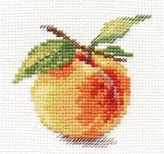 Peach Cross Stitch Kit