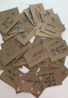 """Set of 15 - Hand Lettered """"Open When"""" Envelopes - Going Away Present - Hand Lettered Envelopes - Open When Present - Heartwarming Present - Geschenk Cute Boyfriend Gifts, Bf Gifts, Boyfriend Rules, Boyfriend Ideas, Boyfriend Messages, Craft Gifts, Gifts For Best Friends, Meaningful Gifts For Boyfriend, Christmas Presents For Boyfriend"""