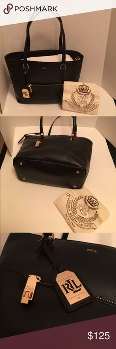 Spotted while shopping on Poshmark: Black Ralph Lauren Handbag! #poshmark #fashion #shopping #style #Ralph Lauren RRL #Handbags