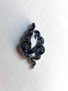 TALISMAN 2.0 Snake and Hand Enamel Pin by ForTenderhearts on Etsy