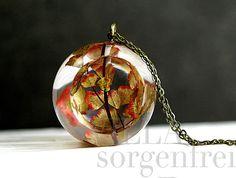Maidenhair fern autunno Lanterna collana. Real di VillaSorgenfrei