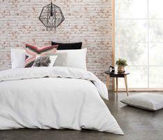 Love how versatile Amala Quilt Cover Set is Neutral Colors, Colours, Quilt Cover Sets, Spare Room, Linen Bedding, Comforters, Master Bedroom, Rustic, Quilts