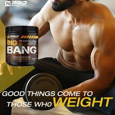 Big Bang Pre-Workout, Amazing Pumps, Insane Energy & Endurance with Nitric Oxide Boosters Best Pre Workout Supplement, Good Pre Workout, Ab Workout Men, Post Workout, Gym Workouts, Muscle Fitness, Gain Muscle, Muscle Fatigue, Muscle Soreness