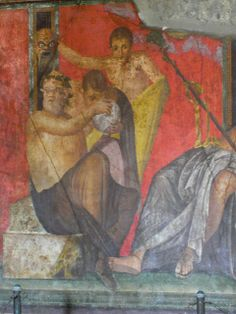 Pompeii - Fresco in the Villa of the Mysteries  Affresco della Villa dei Misteri - Pompei   #pompeii #herculaneum #ruins #scavidipompei #pompei #museum #roman #ancient #excursions #travel #italy #faunopompei #naples #amazing #house #progettopompei