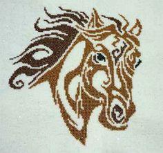 Cross Stitch Craze: Cross Stitch Horses Tribal Horse