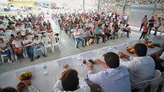 Toman protesta Comités de Base de Morena en Tlaquiltenango y Zacatepec