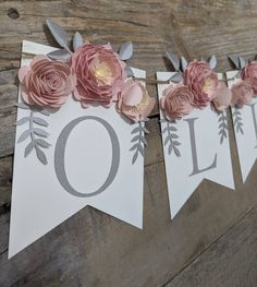 Personalized paper flower garland with blush peonies Pink and | Etsy 3d Paper Flowers, Paper Flower Garlands, Paper Flower Backdrop, Fake Flowers, Bridal Shower Decorations, Wedding Decorations, Pink And Gray Nursery, Blush Peonies, Floral Banners