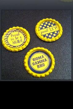Sigma Gamma Rho Sorority Inspired Bottle Caps