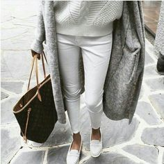 Girl in white and Louis Vuitton.