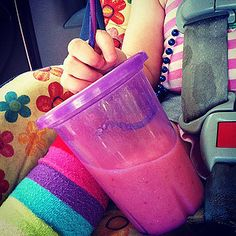 Prevent spills by inserting a crazy straw upside-down to keep kids from yanking it right out of the cup.
