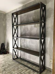 Furniture Ideas combine metal and wood Shelf Furniture, Iron Furniture, Home Furniture, Furniture Design, Furniture Ideas, Modern Industrial Furniture, Industrial Style, Small Hallways, Metal Shelves