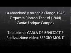 La abandoné y no sabía - Ricardo Tanturi - Traduzione in italiano