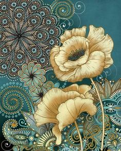Inspired Blooms II Posters by Conrad Knutsen at AllPosters.com