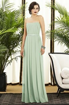 Mint dress, maybe for a Bridesmaid ? Love top and belt- hate the bottom pleating