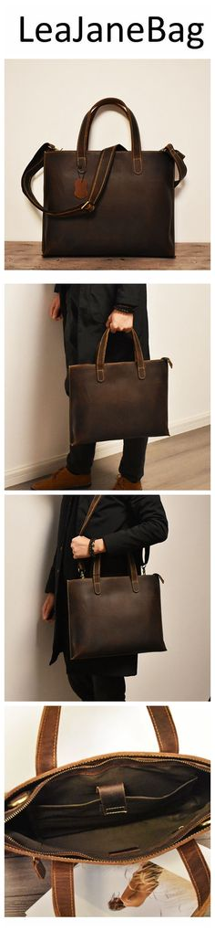 Leather Briefcase, Leather Clutch, Leather Handbags, Christmas Gifts For Men, Monogram Logo, Groomsman Gifts, Shoulder Bag, Cyber Monday, Black Friday