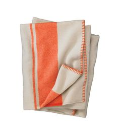 Woolrich Allegheny Throw Mandarin Stripe