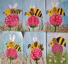 Classroom Art Projects, School Art Projects, Art Classroom, Spring Art Projects, Spring Crafts, Kindergarten Art, Preschool Crafts, 2nd Grade Art, Insect Art