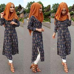 hijab is my diamond Long Skirt Fashion, Modest Fashion Hijab, Abaya Fashion, Fashion Dresses, Muslim Women Fashion, Islamic Fashion, Hijab Outfit, Modele Hijab, Hijab Fashionista