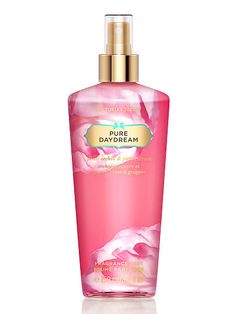 This scent smells so good! I totally recommend this to all teenagers. Pure Daydream is probably one of my top favorite scents Victoria Secret has Victoria Secret Fragrances, Victoria Secret Perfume, Fragrance Mist, Fragrance Parfum, Victoria Secret Love Spell, Victoria's Secret, Best Perfume, Pink Perfume, Body Mist