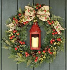 Christmas Wreath Winter Wreath Welcome Home Traditional