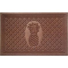 Weather Beater Pineapple Doormat (1'10 x 2'11)