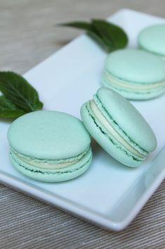 Macarons à la menthe - Surprises et gourmandises