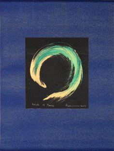 Artworks by Kaz zen circles, Kazuaki Tanahashi